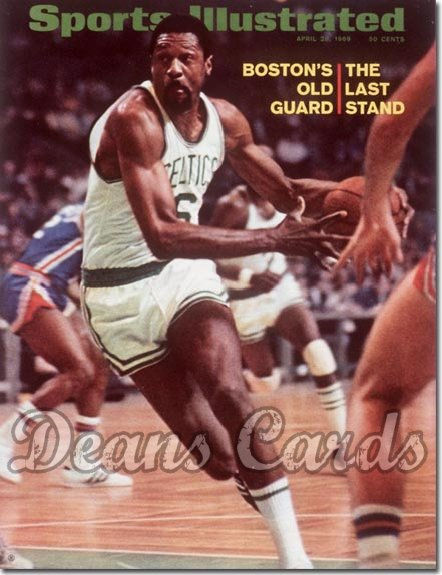 1969 Sports Illustrated - With Label   April 28  -  Bill Russell (Boston Celtics)