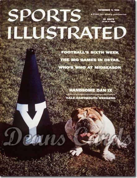 1956 Sports Illustrated - With Label   November 5  -  Dan IX Yale English Bulldog Mascot