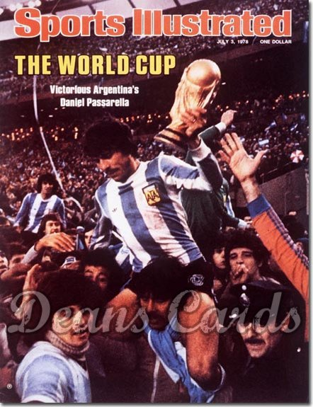 1978 Sports Illustrated - With Label   July 3  -  Daniel Passarella (Soccer)