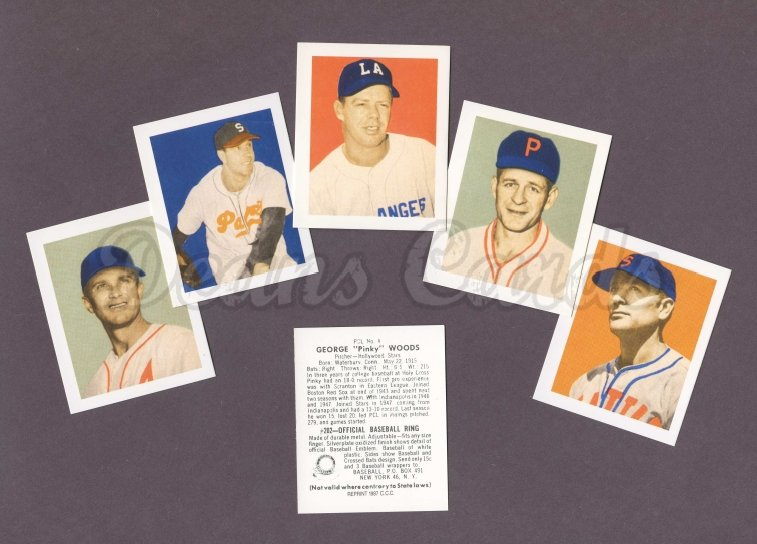 1949 Bowman PCL Reprints    Bowman Pacific Coast League Reprints Complete Set