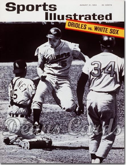 1964 Sports Illustrated - With Label   August 31  -  Brooks Robinson (Baltimore Orioles)