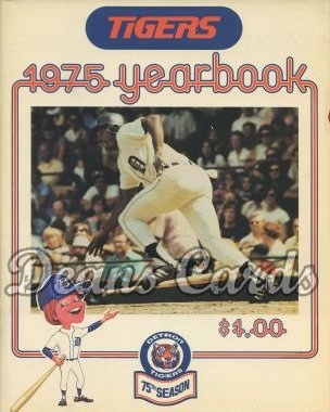 1975 Detroit Tigers Yearbook -  Ron LeFlore