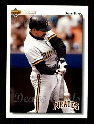 1992 Upper Deck #111  Jeff King