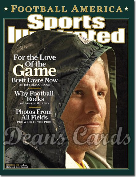 2006 Sports Illustrated - With Label   December 4  -  Brett Favre Green Bay Packers