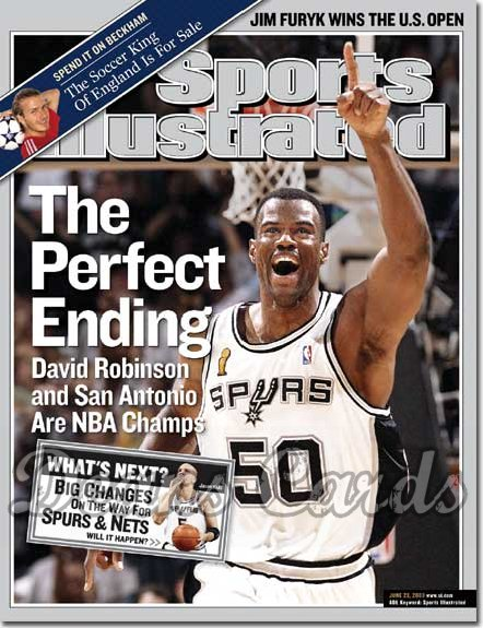 2003 Sports Illustrated   June 23  -  David Robinson (San Antonio Spurs)