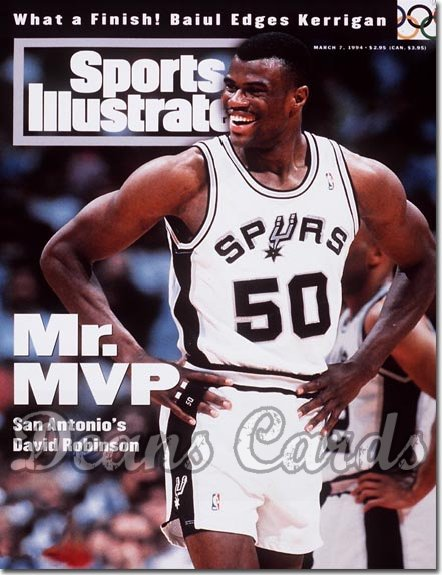 1994 Sports Illustrated - With Label   March 7  -  David Robinson (San Antonio Spurs)