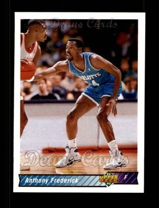 1992 Upper Deck #27  Anthony Frederick