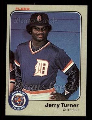1983 Fleer #345  Jerry Turner
