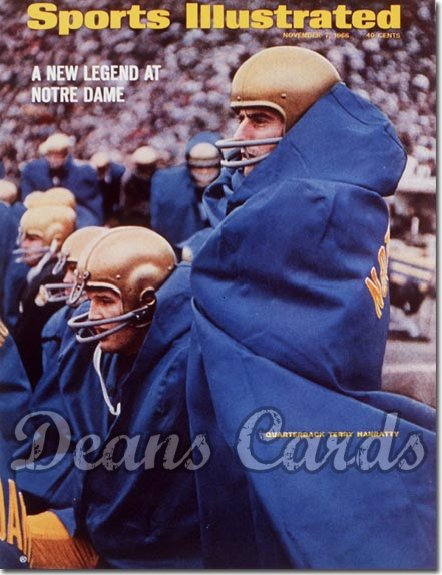 1966 Sports Illustrated - With Label   November 7  -  Terry Hanratty (Notre Dame Fighting Irish)
