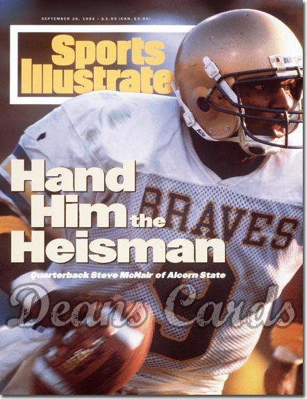 1994 Sports Illustrated - With Label   September 26  -  Steve McNair (Alcorn State Braves)
