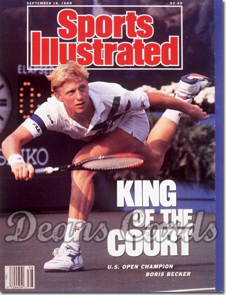 1989 Sports Illustrated - With Label   September 18  -  Boris Becker
