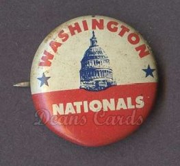 1969 Cranes Potato Chip Pin #19   Washington Nationals
