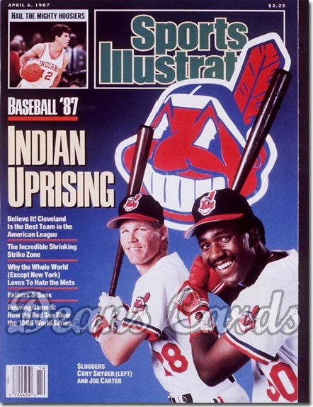 1987 Sports Illustrated - With Label   April 6  -  Joe Carter & Cory Snyder (Cleveland Indians)