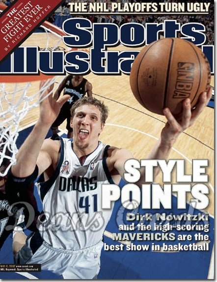 2002 Sports Illustrated   May 6  -  Dirk Nowitzki Dallas Mavericks