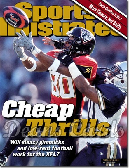 2001 Sports Illustrated   February 12  -  James Hundon (SF Demons) (XFL)