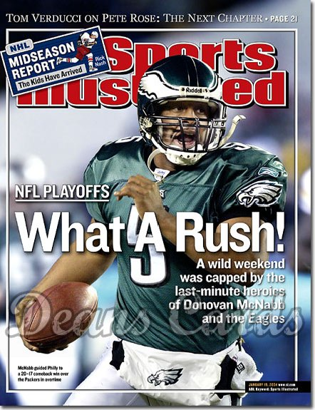 2004 Sports Illustrated - With Label   January 19  -  Donovan McNabb Philadelphia Eagles NFL Playoffs