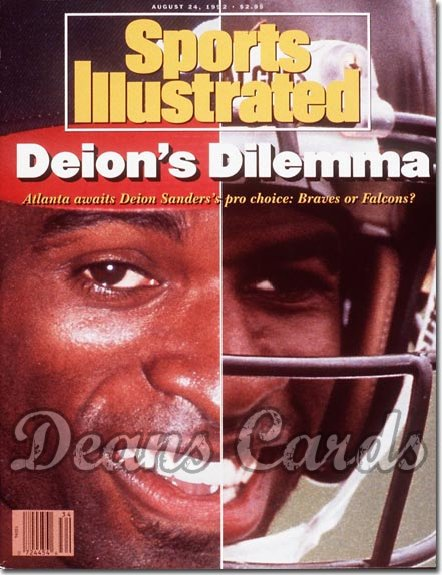 1992 Sports Illustrated - With Label   August 24  -  Deion Sanders (Atlanta Braves & Atlanta Falcons)