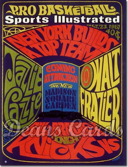 1967 Sports Illustrated - With Label   October 23  -  Pro Basketball Issue (New York Knicks)