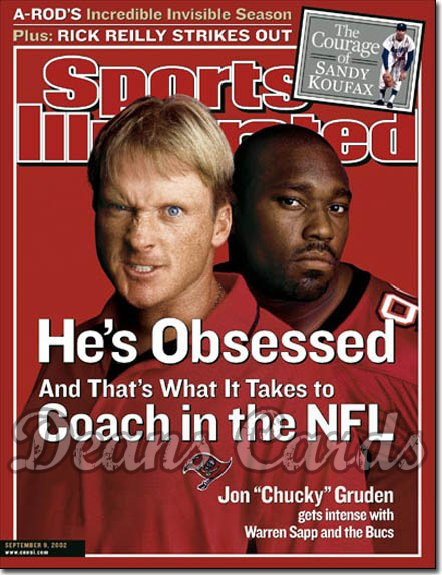 2002 Sports Illustrated   September 9  -  John Gruden & Warren Sapp Tampa Bay Buccaneers