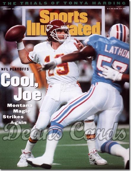 1994 Sports Illustrated - With Label   January 24  -  Joe Montana (Kansas City Chiefs)