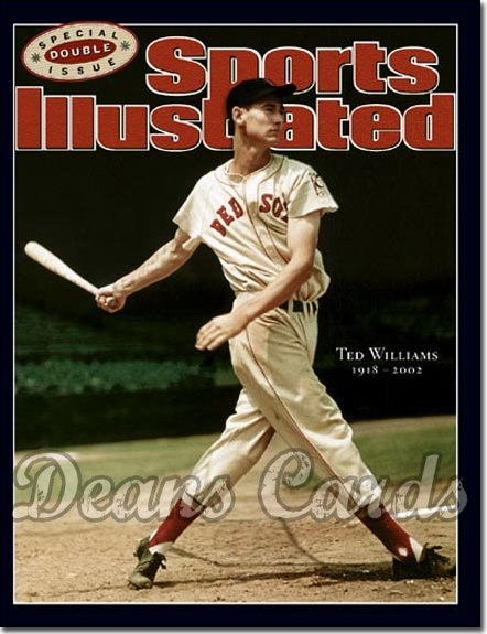 2002 Sports Illustrated   July 15  -  Ted Williams Boston Red Sox