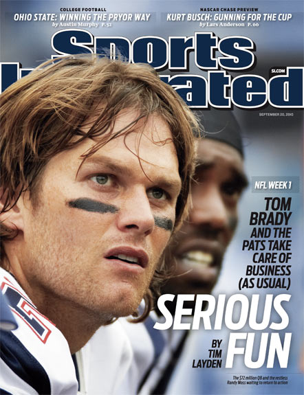 2010 Sports Illustrated - With Label   September 20  -  Tom Brady