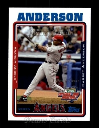 2005 Topps Opening Day #68  Garret Anderson