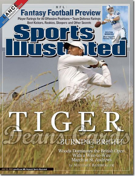 2005 Sports Illustrated   July 25  -  Tiger Woods Wins British Open Golf