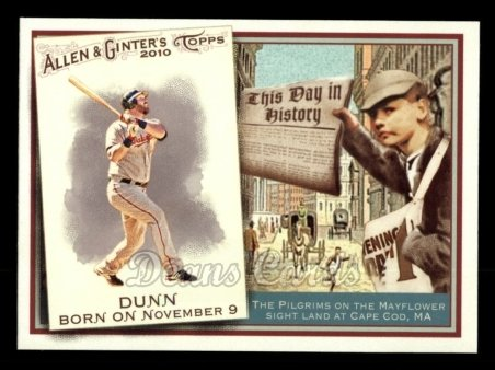 2010 Topps Allen & Ginter This Day In History #13 TDH  -  Adam Dunn This Day in History