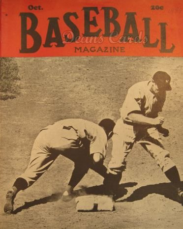 1939 Baseball Magazine    October