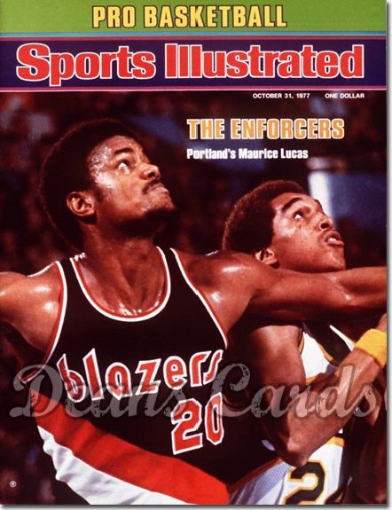 1977 Sports Illustrated - No Label   October 31  -  Maurice Lucas (Portland Trail Blazers)
