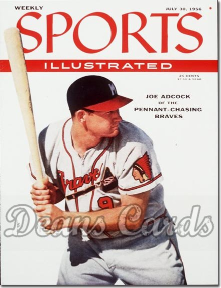 1956 Sports Illustrated - With Label   July 30  -  Joe Adcock Milwaukee Braves