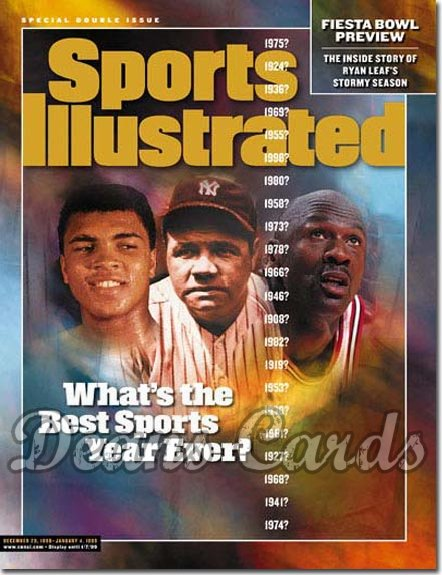 1998 Sports Illustrated   December 28  -  Muhammad Ali Babe Ruth Michael Jordan