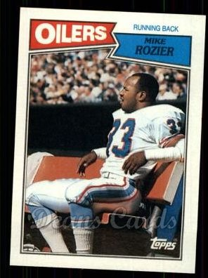 1987 Topps #308  Mike Rozier