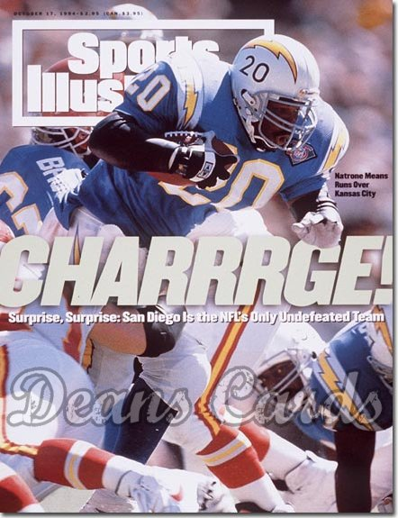 1994 Sports Illustrated - With Label   October 17  -  Natrone Means (San Diego Chargers)