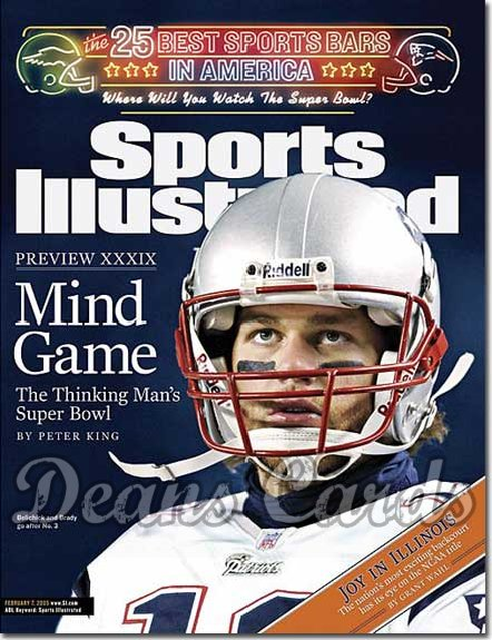 2005 Sports Illustrated - With Label   February 7  -  Tom Brady NE Patriots Super Bowl XXXIX 39 Preview