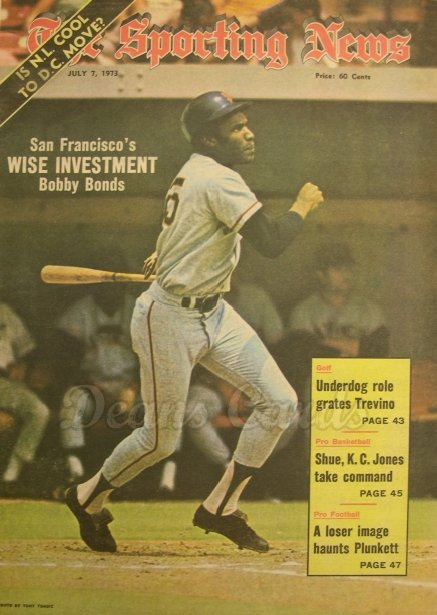 1973 The Sporting News   July 7  - Bobby Bonds / Pete Rose