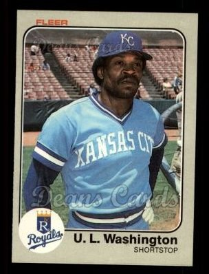 1983 Fleer #125  U.L. Washington