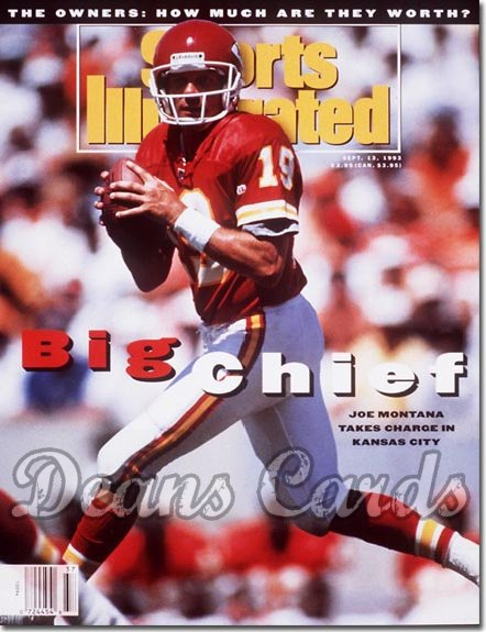 1993 Sports Illustrated - No Label   September 13  -  Joe Montana (Kansas City Chiefs)