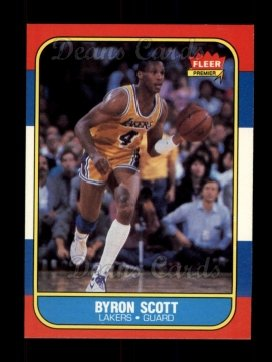 1986 Fleer #99  Byron Scott
