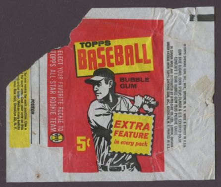 1961 Topps Baseball Wax Wrapper