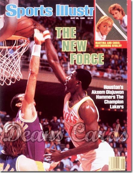 1986 Sports Illustrated - No Label   May 26  -  Hakeem Olajuwon (Houston Rockets)