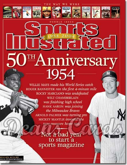 2003 Sports Illustrated   July 14  -  Mickey Mantle Yankees Willie Mays Giants