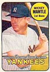 1969 Topps Decals #23  Mickey Mantle