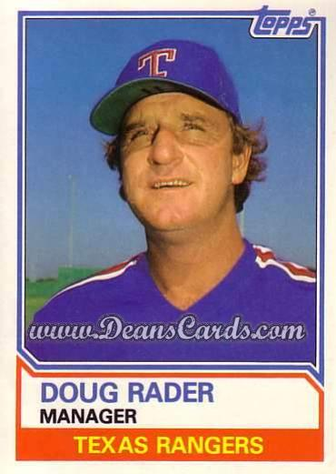 1983 Topps Traded #91 T Doug Rader