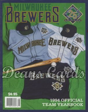 1994 Milwaukee Brewers Yearbook - New Brewer uniforms