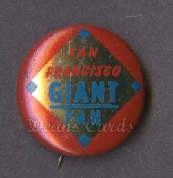 1964 Cranes Potato Chip Pin #17   San Francisco