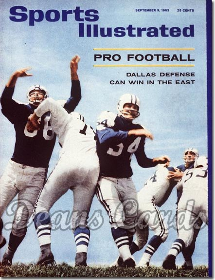 1963 Sports Illustrated - With Label   September 9  -  Dallas Cowboys Defense Bob Lilly Lee Roy Jordan