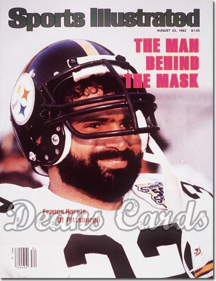 1982 Sports Illustrated - With Label   August 23  -  Franco Harris (Pittsburgh Steelers)