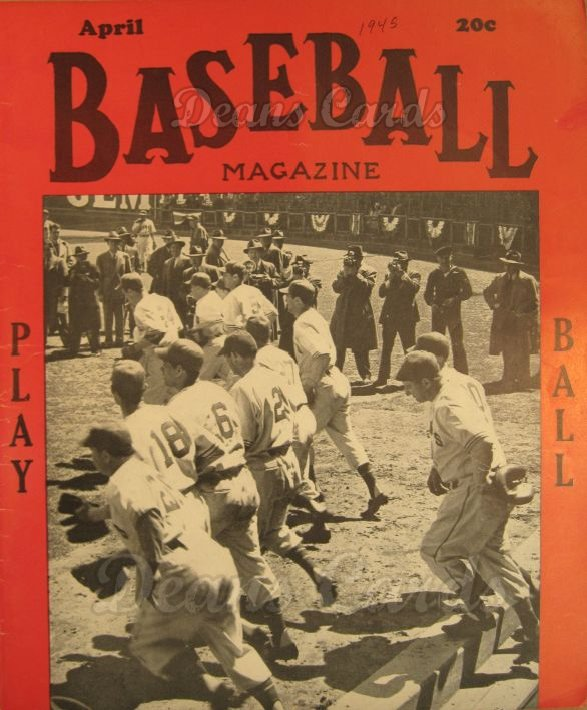 1945 Baseball Magazine    April